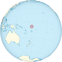 Location of Tuvalu