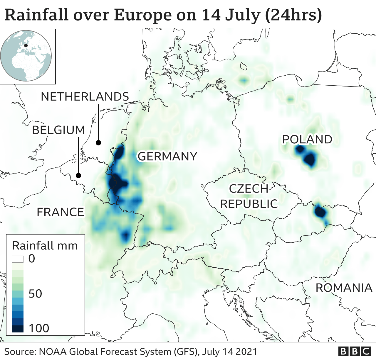 Germany floods: Where are the worst-hit areas? - BBC News